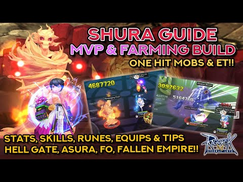 SHURA MVP & FARMING GUIDE!! Hell Gate, Fallen Empire, Asura, & Finger Offensive Build!