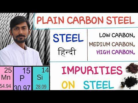 [HINDI] STEEL~ CLASSIFICATION ~ PLAIN CARBON STEEL ~ IMPURITES IN STEEL & THEIR EFFECTS