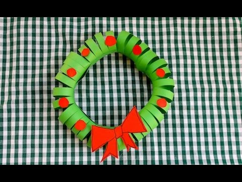 How To Make A Easy Construction Paper Christmas Wreath