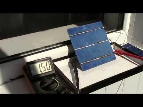 видео: Тест солнечных батарей . solar cell test.