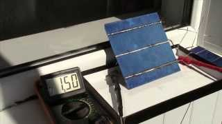 Тест солнечных батарей . Solar cell Test.
