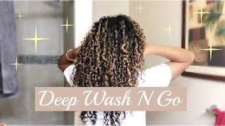 Wash N Go W/ Hair Mask + Night Routine for DEFINED and BOUNCY Curls  | Natural Hair