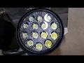 LED SPOT FLOOD LIGHT TEST # 2 - EBAY 42W LIGHTS