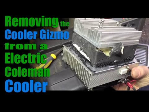 part 1 - removing the cooler gizmo from a 12v electric coleman cooler