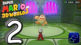Super Mario 3D World Walkthrough - Gameplay Part 2 - World 2 (1 - Bowser's Bullet Bill Brigade)