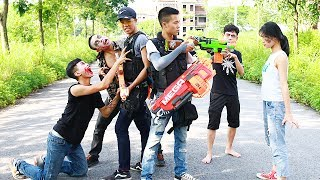 Superhero action Double S.W.A.T Nerf guns Zombies Hero Man Hunt Monsters Nerf war