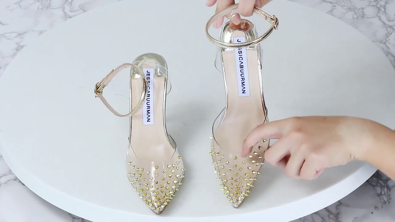 1d77dc8693e And Sandals High Heel Patent Pvc Leather Spikes Gaina E0pq8c