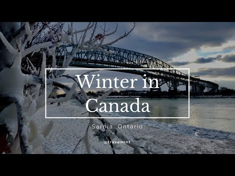 Winter in Canada Travemint 4K | Sarnia, Lambton County, Ontario Canada.