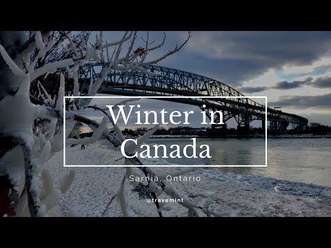 Winter In Canada Travemint 4K | Sarnia, Lambton County, Ontario Canada.