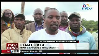 Murang'a residents protest move to divert Kinyona-Gatura-Njabini road