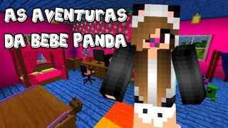AS AVENTURAS DA BEBE PANDA! 🐼 (Historinha no Minecraft)