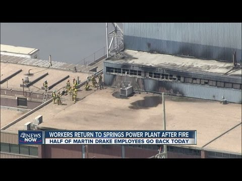Workers return to damaged Colorado Springs power plant