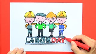 labor day drawing lesson