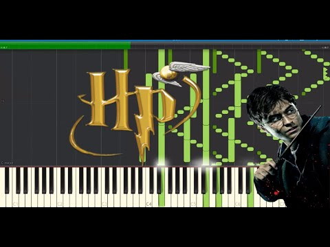 Harry Potter IMPOSSIBLE REMIX -Lumos and Hedwig's Theme - piano (Synthesia)