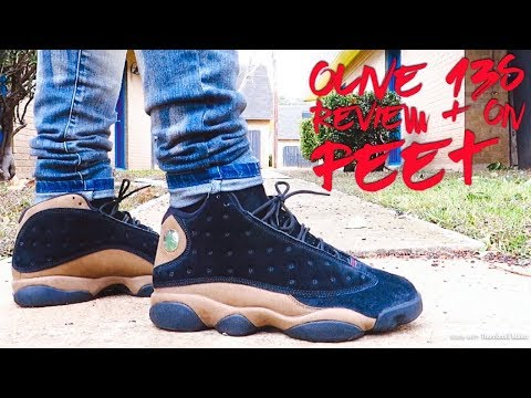1d16e5a72bb Jordan Retro 13 'OLIVE' Sneaker Review + On Foot • WHY IS THE SUEDE SO  ASHY?! - YouTube