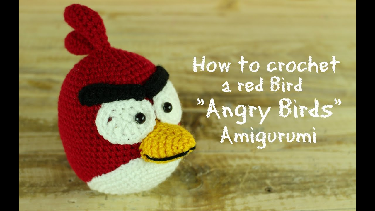How to crochet a Red Bird \