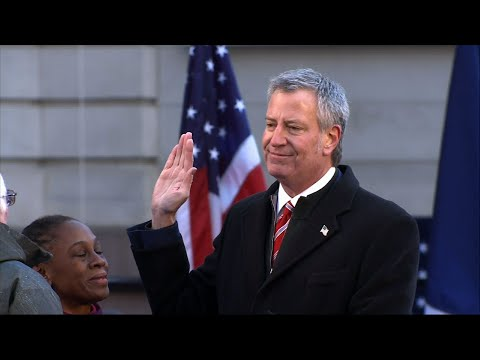 NYC Mayor Bill de Blasio Begins 2nd Term