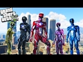 GTA 5 Power Rangers Mod! Epic Fighting & Super Powers! (GTA 5 Mods)