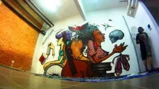 Pardal - Mural Artístico na FPA - Faculdade Paulista de Artes.