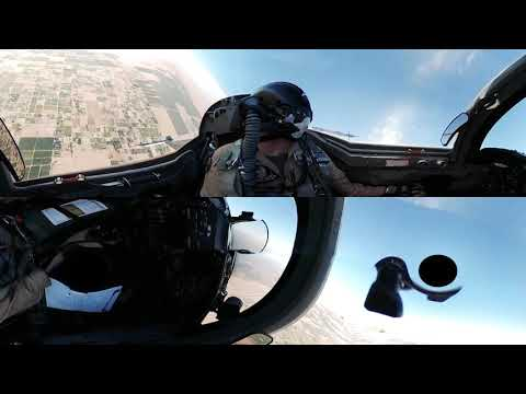 360° Cockpit View From An US Fighter Jet  Northrop F 5E Tiger II Fighter Jet 360° VR Cockpit Video