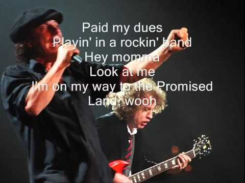 ACDC highway to hell (lyrics) HQ - YouTube