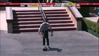 Nyjah Huston takes Gold in Men's Skateboard Street Final - ESPN X Games