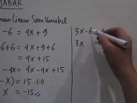 cara-menyelesaikan-persamaan-linear-satu-variabel-detail---aljabar