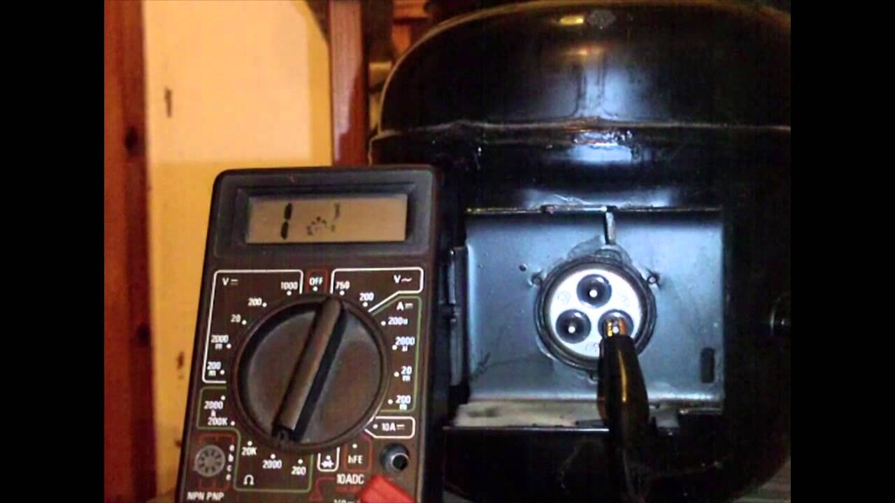 How to test a fridge compressor using a multimeter