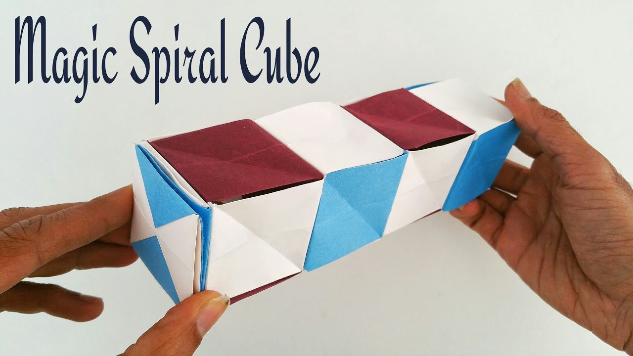 Magic spiral cube diy modular origami tutorial by paper for Useful things to make out of paper