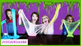 Teaching Slime Making To Kid YouTubers / JustJordan33