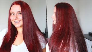 How I Dye My Hair Red at Home! ♡