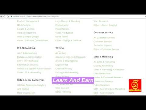 upwork jobs categories