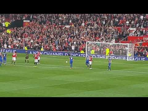 Anthony Martial goal v Everton - View from Sir Bobby Charlton stand