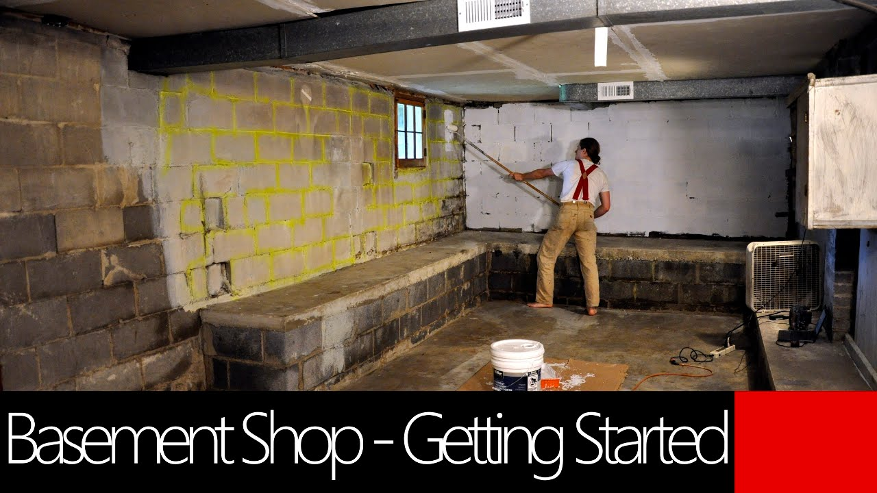 Basement Workshop   Getting Started Cleaning And Painting   Creative  Paridise!   YouTube