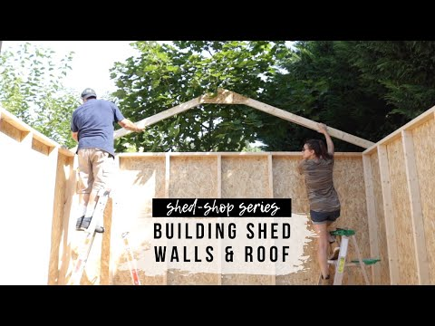 Shed-Shop Series (Ep. 2): Assembling Shed Walls & Roof | DIY Shed Kit