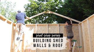 Shed-Shop Series (Ep. 2): Assembling Shed Walls & Roof | DIY Shed Kit