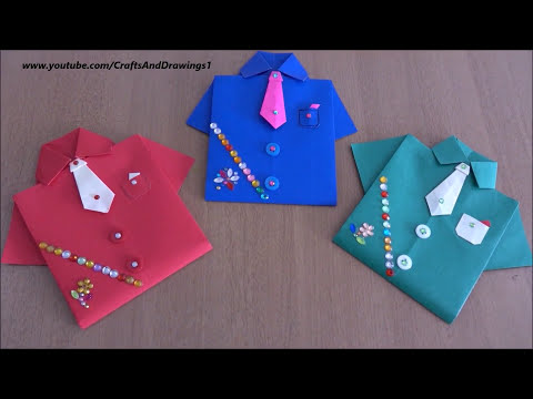 shirt-greeting-card-for-birthday,father's-day/diy/-how-to-make-shirt-,tie-&-pocket-(tutorial)