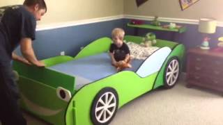 Liam's Race Car Bed Surprise!