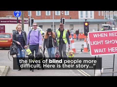 Are Norwich's new traffic measures excluding blind and partially-sighted people?