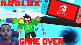 PUSHED OFF THE EDGE! Let's Play Roblox ESCAPE THE NINTENDO SWITCH! Playonyx