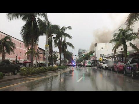 Fire on Washington Ave and 16th Street, Miami Beach