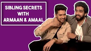 armaan malik and amaal malik reveal each others secrets in the siblings secrets game pop diaries
