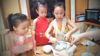 Làm bánh bông lan và cơm cuộn Hàn Quốc cùng biệt đội siêu quậy 😋😍😘🍞🌯🍽️