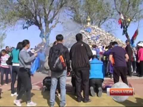 Genghis Khan tribute in N China
