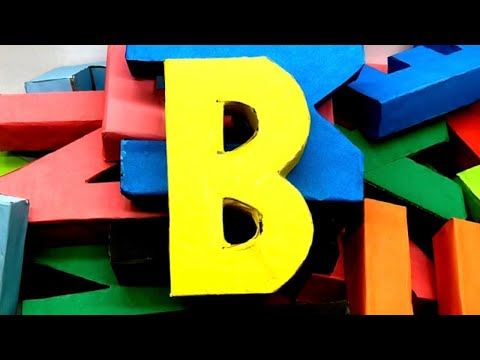 Origami 3D Alphabet Letters Making by Paper | 3D Letter DIY | 5 Minutes Crafts & Toys