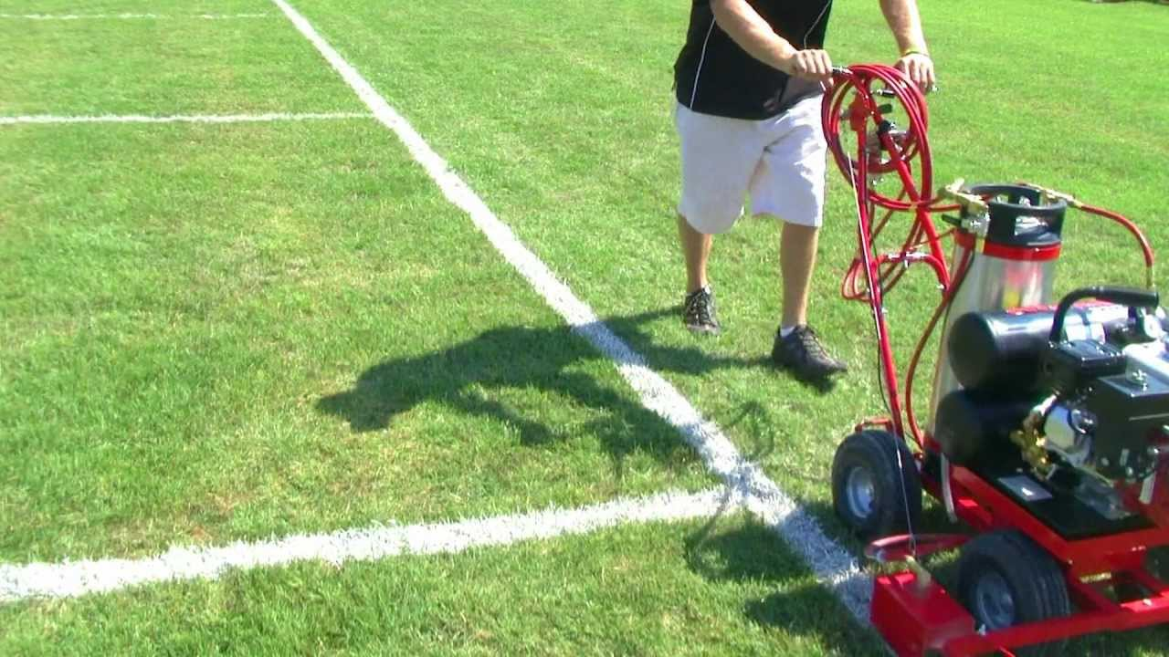 soccer field striping machine