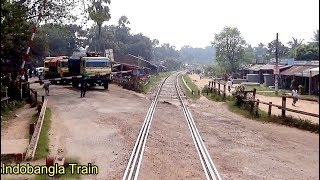 Travelling by train in front of Train Engine ।। Benapole Commuter Train of Bangladesh railway