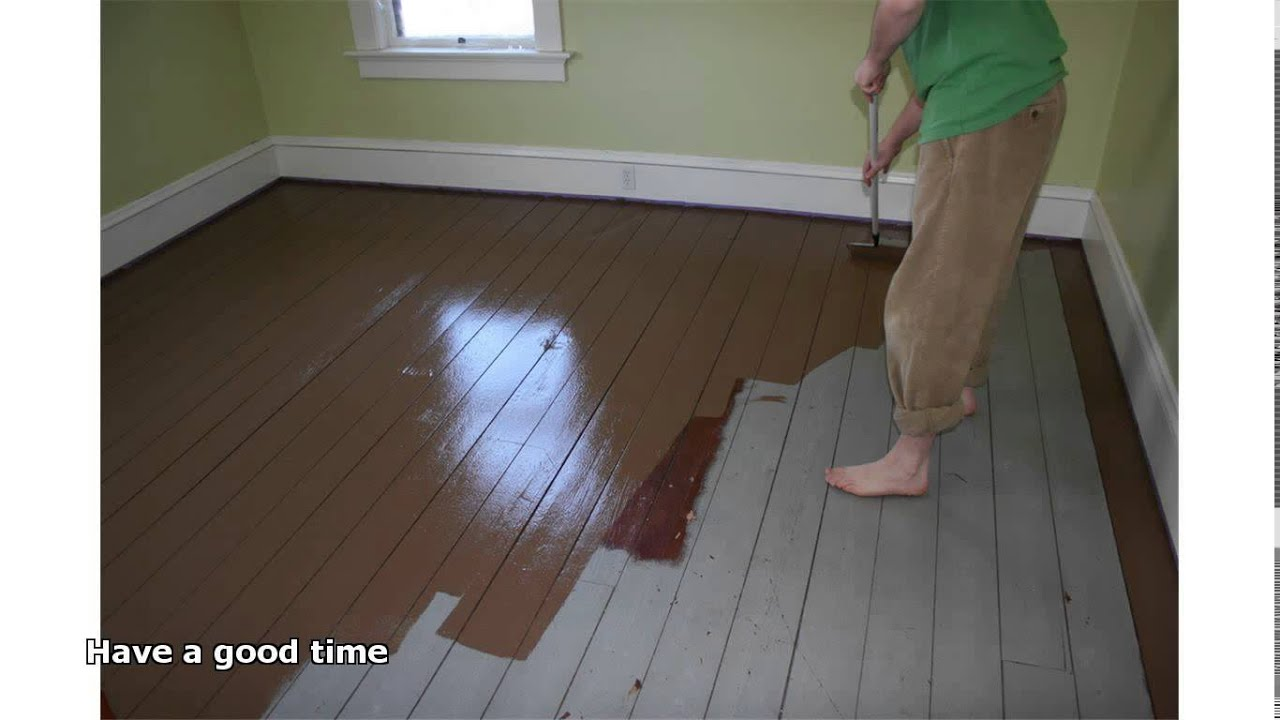 Good Painting Hardwood Floors   YouTube
