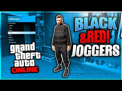 HOW TO GET BLACK \u0026 RED JOGGERS GLITCH! Get A MODDED OUTFIT! (GTA 5 Online Clothing Glitches 1.46)