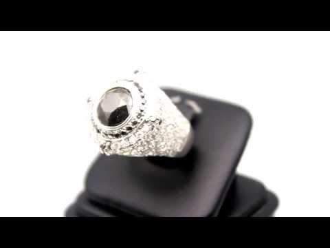 Men's 14K White Gold Custom Diamond Ruby Pinky Ring 14 38 Ctw from YouTube · Duration:  43 seconds